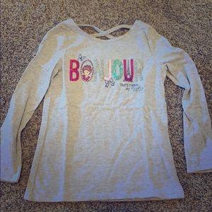 Fancy Nancy Gray L/S Tee Shirt